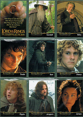 Lord Of The Rings Fellowship Of The Ring Uk Preview Set Of 20 Cards