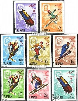 Ajman 199A-206A (complete issue) used 1967 olympic. Winter Game