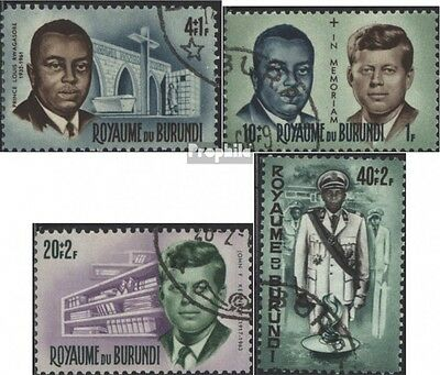 Burundi 211A-214A (complete issue) used 1966 Personalities