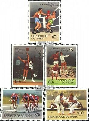 Niger 531-535 (complete issue) used 1976 Olympics Games in Mont