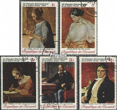 Burundi 515A-519A (complete issue) used 1969 Paintings