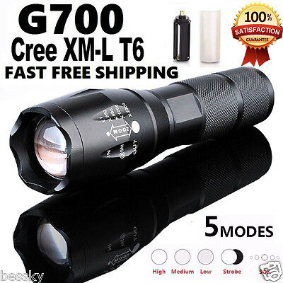 led lampe usb rechargeable flashlight 5000lm cree t6. Black Bedroom Furniture Sets. Home Design Ideas