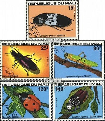 Mali 648-652 (complete.issue) used 1978 Insects