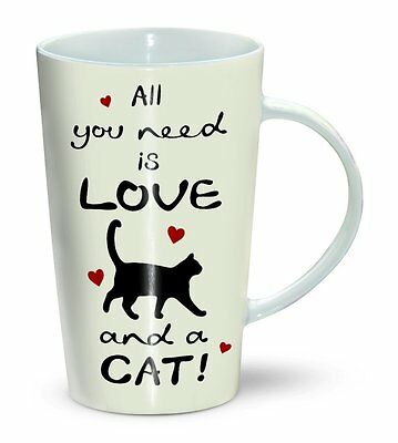 All You need is Love and a Cat - Mug - Becher - Latte