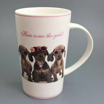 Here Come The Girls! - Dackel - Mug - Becher - Latte
