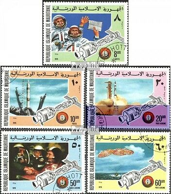 Mauritania 522-526 (complete issue) used 1975 Company Apollo-So