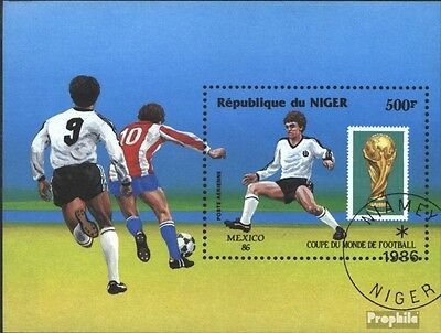 Niger block49 (complete issue) used 1986 Football-WM ´86, Mexic