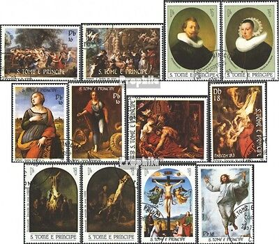 Sao Tome e Principe 815-826 (complete issue) used 1983 Painting
