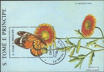 Sao Tome e Principe block181 (complete issue) used 1988 Flowers