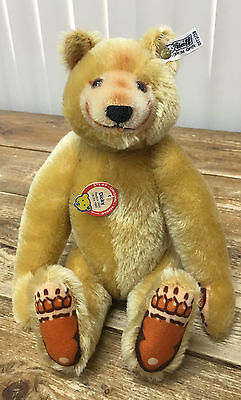 "Steiff W Germany 0172/32 1985 Dicky 1930 Replica Teddy Bear COA 03788 12"" Mohair"