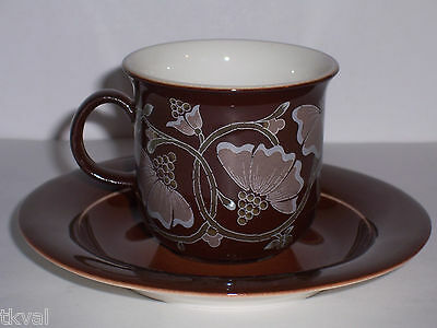 ARABIA KASLANJA  Super CHOCOLATE COFFEE CUP & SAUCER FINLAND