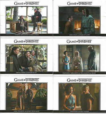 Game of Thrones Season 5 ~ RELATIONSHIPS 10-Card Insert Set (DL21-DL30)
