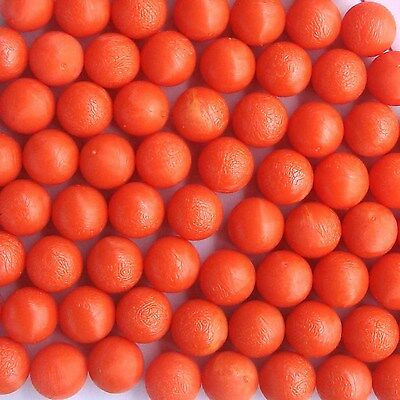 10 New .68 cal Reusable Rubber Training Balls Paintballs Orange Color