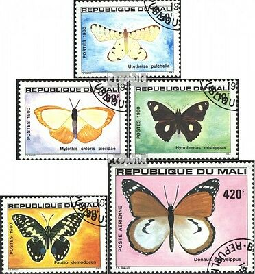 Mali 802-806 (complete issue) used 1980 Butterflies