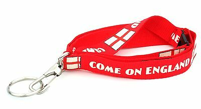 100 England Lanyards in Assorted Designs Red & White
