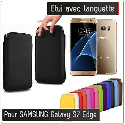 pochette languette samsung galaxy s7 edge simili cuir pull. Black Bedroom Furniture Sets. Home Design Ideas