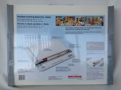 Koh-I-Noor Portable Drawing Board With Straightedge-25434 NEW Made in Germany