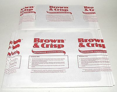 (1) Pk 30 ~BROWN & CRISP~ MICROWAVE OVEN COOKING BROWNING BAGS