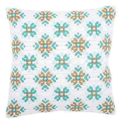 Ice Star II - Long Stitch Printed Canvas Cushion Kit-Cross Stitch-Tapestry Kit