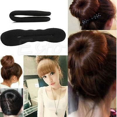 Incredible 2Pcs Magic Sponge Clip Foam Donut Hair Styling Bun Curler Tool Hairstyle Inspiration Daily Dogsangcom