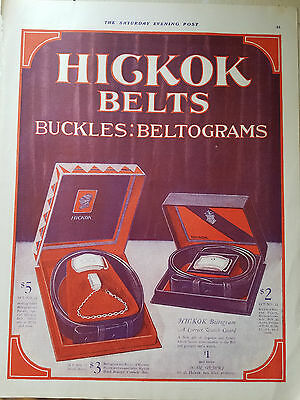 1924 Vintage HICKOK Set 11 35 and 22 Beltogram Belt Buckle Clothing Ad