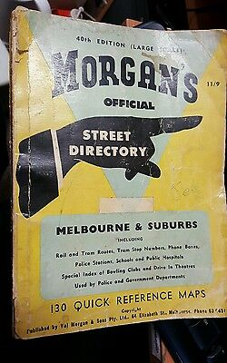 Vintage MORGAN'S Melbourne Street Directory 40th edition Good cond