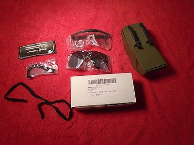 Genuine Us Military Safety Shooting Glasses Specs W/ Spare Lens & Case New A1