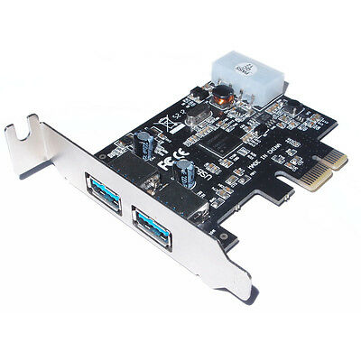 NEW! Dynamode Usb 3.0 Pci-E Adapter Card With Low Profile Bracket 2-Port USB-2PC