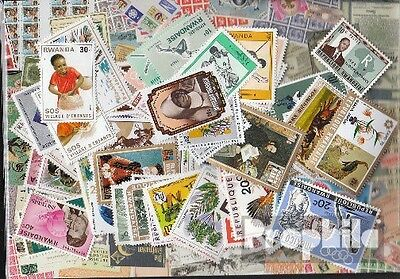 Rwanda 100 different stamps