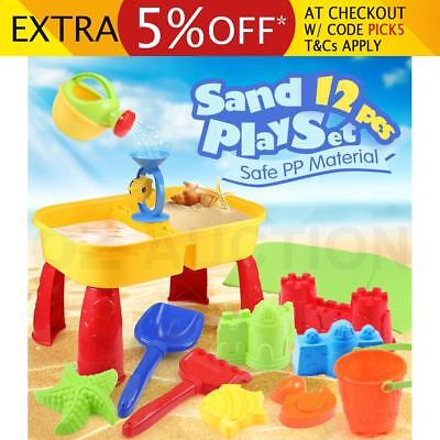 Kids Outdoor Water & Sand Children Activity Play Table Beach Sandpit Toys Set