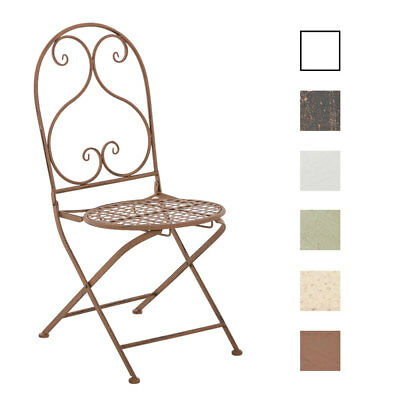 Folding Chair VAHAN Patio Garden Outdoor Furniture Seat Metal Vintage Shabby
