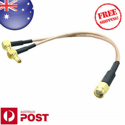 SMA male TO Y Type 2x TS9 male RA Splitter Combiner cable RG316 10cm - Z620B