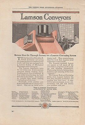 1919 Lamson Co Boston MA Ad: Stetson Hats on a Lamson Conveying System