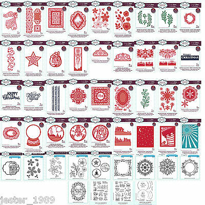 CREATIVE EXPRESSIONS - Sue Wilson Festive Christmas Dies, Stamps 2016  Choice of