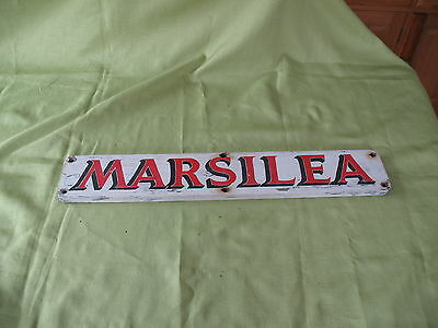 Old vintage sign written wooden River Boat sign MARSILEA ( Meaning Aquatic Fern)