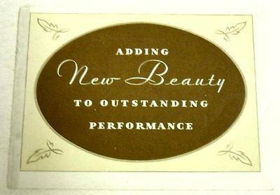 """Ford 1930 Model A """"Adding Beauty"""" Sales Brochure"""
