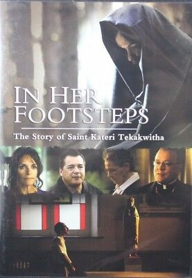 In Her Footsteps The Story of Saint Kateri Tekakwitha Brand NEW DVD Biography
