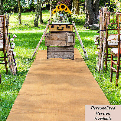 BURLAP AISLE RUNNER for your perfect Rustic Country Wedding ceremony
