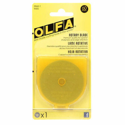 Olfa 60mm Rotary Cutter Replacement Blade Pack of 1