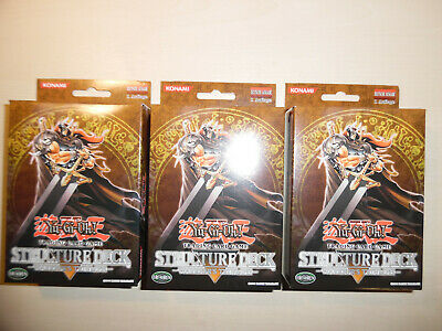Yu-Gi-Oh!  3 deutsche Structure Decks WARRIOR´S TRIUMPH  + 10 Super Rares !!!