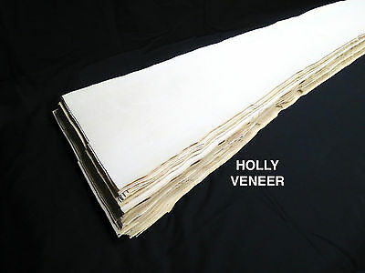 Holly * 1/32 * Veneer American lumber white wood, kd -  over 6 sq ft!