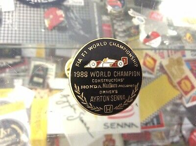 Ayrton Senna Official 1988 World Championship Pin