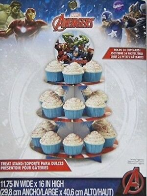 Avengers Treat Stand 24 Cupcake Holder Party Centerpiece