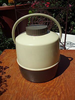 Vintage 1 Gal Metal Camping Hiking Picnics Water Jug Cooler Made In Usa Clean