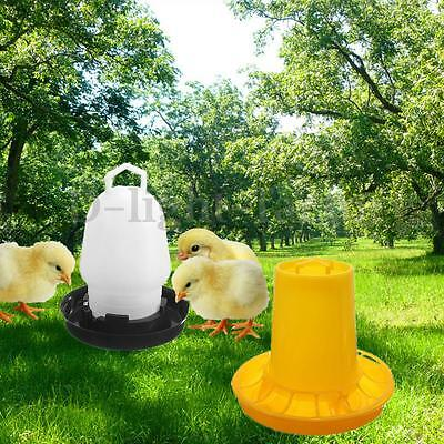 Automatic Chicken Quail Feed Waterer Drink Cups Poultry Birds Feeder 250ml+500g