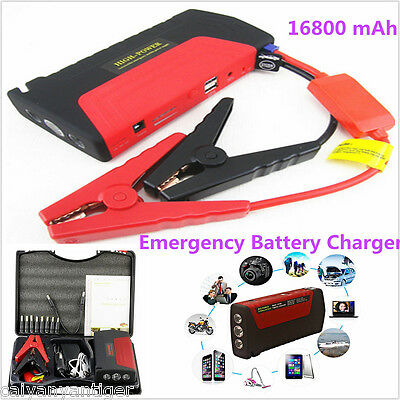 16800mA Car Jump Starter Portable Battery Power Bank Emergency Charger Booster
