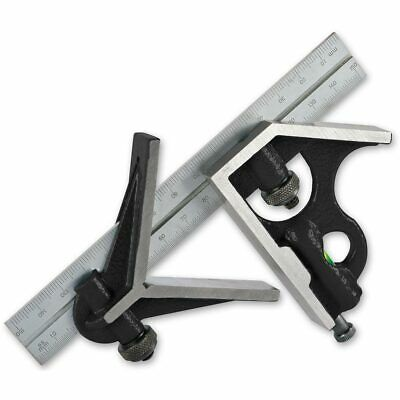 "Axminster 150mm/6"" Cast Iron Combination Square"