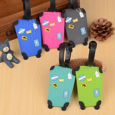 NEW Luggage Tags Suitcase Name And Address Label ID Tags Holiday Travel Bagtag