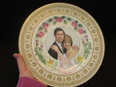 "Crown Staffordshire #24 of 1500 Ltd Edition Birth of Prince William 10"" Plate"