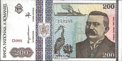Romania Pick-number: 100a bankfrisch 1992 200 Lei